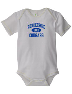 Roch Courreges Elementary School Cougars Baby Zig-Zag Creeper