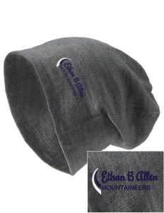 Ethan B Allen Elementary School Mountaineers Embroidered Slouch Beanie