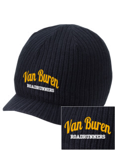 Van Buren Elementary School Roadrunners Embroidered Knit Beanie with Visor