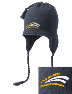 Van Buren Elementary School Roadrunners Embroidered Knit Hat with Earflaps