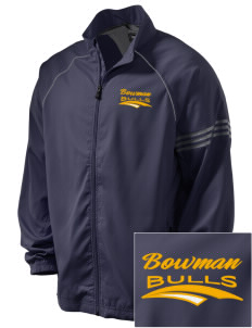 Bowman Elementary School Bulls Embroidered adidas Men's ClimaProof Jacket