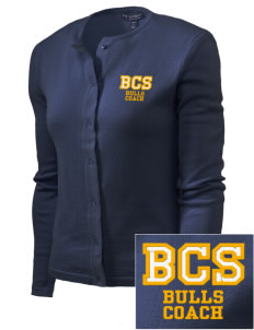 Bowman Elementary School Bulls Embroidered Women's Cardigan Sweater