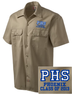 Phoenix High School Phoenix Embroidered Dickies Men's Short-Sleeve Workshirt