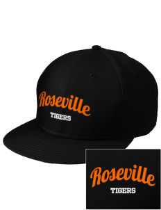 Roseville High School Tigers  Embroidered New Era Flat Bill Snapback Cap