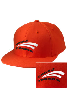 Roseville High School Tigers Embroidered Diamond Series Fitted Cap