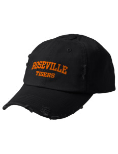 Roseville High School Tigers Embroidered Distressed Cap