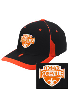 Roseville High School Tigers Embroidered M2 Universal Fitted Contrast Cap