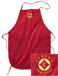 Corona High School Panthers Embroidered Full Length Apron