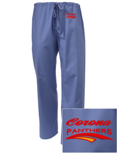 Corona High School Panthers Embroidered Scrub Pants