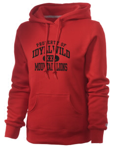 Idyllwild School Mountain Lions Russell Women's Pro Cotton Fleece Hooded Sweatshirt