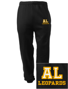 Abraham Lincoln Elementary School Leopards Embroidered Men's Sweatpants with Pockets