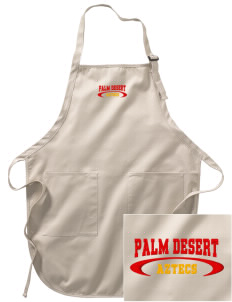 Palm Desert High School Aztecs Embroidered Full-Length Apron with Pockets