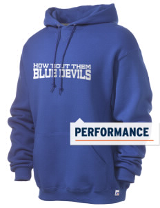 Clay High School Blue Devils Russell Men's Dri-Power Hooded Sweatshirt