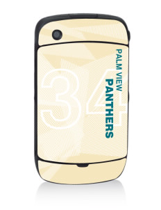 Palm View Elementary School Panthers Black Berry 8530 Curve Skin