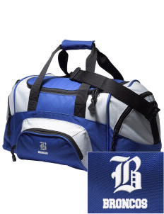 Broadus Elementary School Broncos Embroidered Small Colorblock Duffel