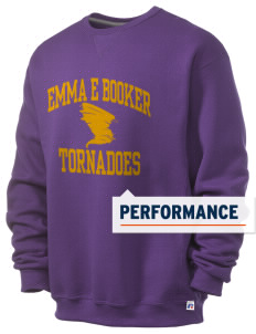 Emma E Booker Elementary School Tornadoes  Russell Men's Dri-Power Crewneck Sweatshirt
