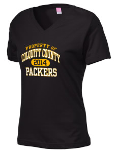 Colquitt County High School Packers Women's V-Neck T-Shirt
