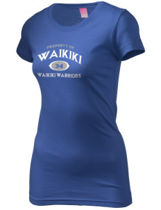 Waikiki Elementary School Waikiki Warriors  Juniors' Fine Jersey Longer Length T-Shirt
