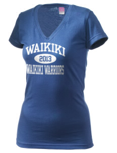 Waikiki Elementary School Waikiki Warriors Juniors' Fine Jersey V-Neck Longer Length T-shirt