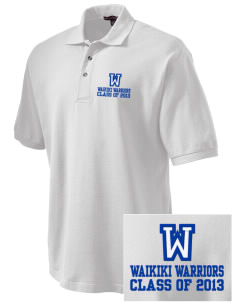 Waikiki Elementary School Waikiki Warriors Embroidered Tall Men's Pique Polo