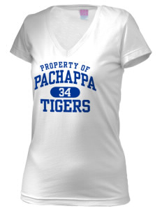 Pachappa Elementary School Tigers Juniors' Fine Jersey V-Neck Longer Length T-shirt