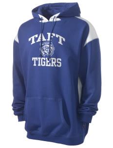 Taft Elementary School Tigers Men's Pullover Hooded Sweatshirt with Contrast Color