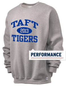 Taft Elementary School Tigers  Russell Men's Dri-Power Crewneck Sweatshirt