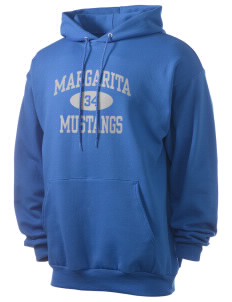 Margarita Middle School Mustangs Men's 7.8 oz Lightweight Hooded Sweatshirt