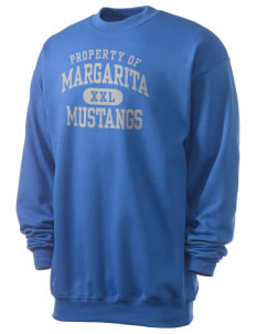 Margarita Middle School Mustangs Men's 7.8 oz Lightweight Crewneck Sweatshirt
