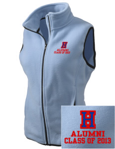 Highlands High School Scots Embroidered Women's Fleece Vest