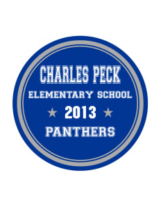 Charles Peck Elementary School Panthers Sticker