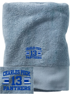 Charles Peck Elementary School Panthers Embroidered Zero Twist Resort Towel
