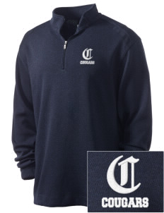 Oakview Community School Cougars Embroidered Nike Men's Golf Heather Cover Up