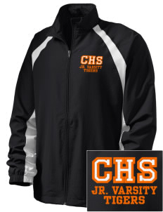 Chaffey High School Tigers  Embroidered Men's Full Zip Warm Up Jacket