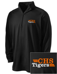 Chaffey High School Tigers Embroidered Men's Stretched Half Zip Pullover