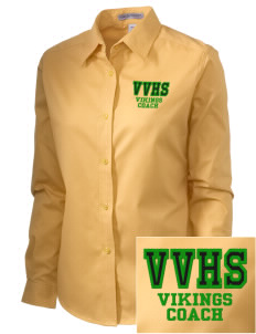 Valley View High School Vikings Embroidered Women's Easy-Care Shirt