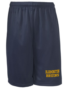 "Bloomington High School Bruins Long Mesh Shorts, 9"" Inseam"
