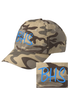 Bloomington High School Bruins Embroidered Camouflage Cotton Cap