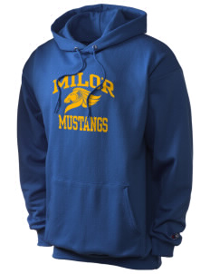 Milor Continuation Senior High School Mustangs Champion Men's Hooded Sweatshirt