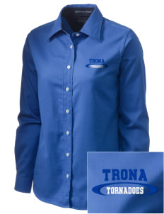 Trona Elementary School Tornadoes  Embroidered Women's Pima Advantage Twill