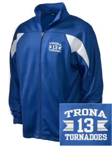 Trona Elementary School Tornadoes Embroidered Holloway Men's Full-Zip Track Jacket