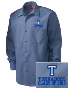 Trona Elementary School Tornadoes Embroidered Men's Industrial Work Shirt - Regular