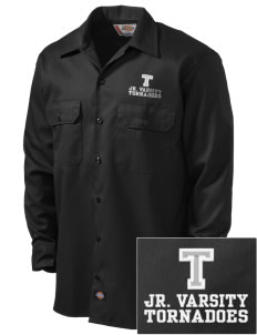 Trona Elementary School Tornadoes Embroidered Dickies Men's Long-Sleeve Workshirt