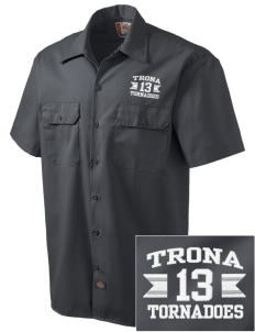 Trona Elementary School Tornadoes Embroidered Dickies Men's Short-Sleeve Workshirt