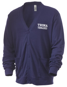 Trona High School Tornadoes Men's 5.6 oz Triblend Cardigan