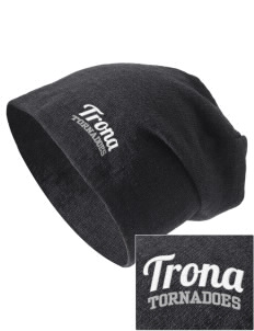 Trona High School Tornadoes Embroidered Slouch Beanie
