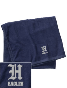 Hillside High School Eagles Embroidered Beach Towel