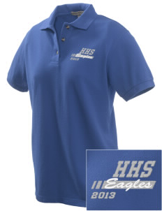 Hillside High School Eagles Embroidered Women's Pique Polo