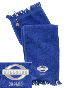 Hillside High School Eagles  Embroidered Grommeted Finger Tip Towel