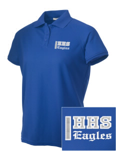 Hillside High School Eagles Embroidered Women's Technical Performance Polo